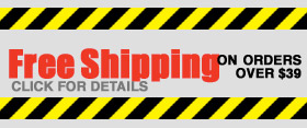 Free Shipping on orders over $39